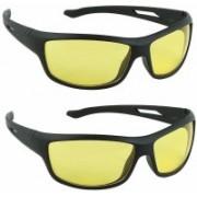 jazz style Wayfarer, Butterfly, Over-sized Sunglasses(Yellow)