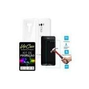 Kit Protecao Smartphone Asus Zenfone Selfie Zd551kl= Pelicula De Vidro E Capa Tpu Transparente - Upc