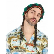 Peruca estrela de reggae homem