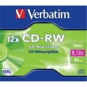 Medii de stocare verbatim CD-RW 80 / 700MB 12x SCRATCH caseta de bijuterii REZISTENT (43148)