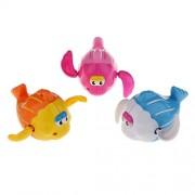 ELECTROPRIME Kids Educational Bath Time Play Wind up Clockwork Fish Toy Xmas Gift 6Pcs
