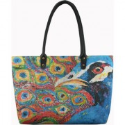 Anges Peacock Plume Shoulder Bag