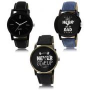 MACRON W-410 Latest Fashion Stylish Combo Watch Black Dial Color