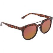 Zyaden Brown Round Unisex Sunglasses 151