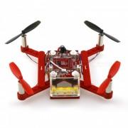 021 bloques de bricolaje volando 2.4G 4-CH 6-Eje Gyro RTF RC Quadcopter - Rojo