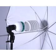 Zestaw oświetleniowy + parasol biały i żarówka 600W 80cm Z32