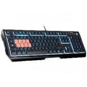 Tastatura Cu Fir A4Tech Gaming Bloody B188, Iluminata, Led Albastru, Neagra
