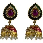 Pourni exclusive Designer Pearl Jhumka Gold finish Earring - PRER130