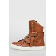 Dsquared2 Sneakers Alte DOVER in Pelle taglia 39