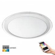 Eglo Connect Competa-C Plafondlamp Wit, White and Color