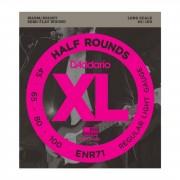 D'Addario Juego de 4 cuerdas para Bajo XL Half Rounds 45-100 45-65-80-100, ENR71