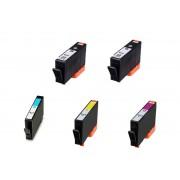 Italy's Cartridge 5 CARTUCCE HP 934BK 935C/M/Y COMPATIBILI CON CHIP PER HP OfficeJet Pro 6230 6800 6820 N° 2 HP 934BK + N° 1 HP 935C / M / Y