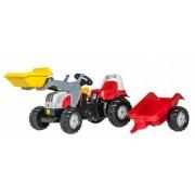 Traktor na pedale Steyr sa prikolicom i utovarivačem Rollytoys
