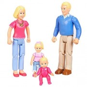 L L Merchandise You & Me Happy Together Family Dolls Caucasian Dad, Mom, Daughter and Baby