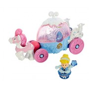 Fisher-Price Little People Disney Princess Cinderellas Lights &Sounds Carriage