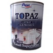 Vopsea Email AZUR Topaz S5046 Snow White Alb 4 Litri