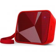 Philips Bluetooth безжична портативна колонка, цвят: червен