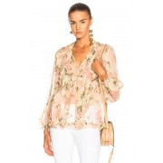 Zimmermann Prima Floating Top in Floral,Pink. - size 0 / XS (also in 1 / S,2 / M,3 / L)