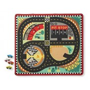 "Melissa & Doug Round the Speedway Race Track Rug 39"" x 36"
