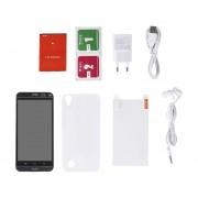5 Pulgadas Mtk6580 3G Smartphone Android Teléfono Móvil 820 200w+500W Pixeles Negro