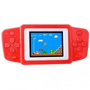 Zhishan Kids Retro Handheld Game Console Portable Player Built in 269 Classic Old Style Video Games with 2.5 LCD Screen Boy Arcade Gaming System Unique for Children (Red)