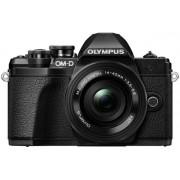 Aparat Foto Mirrorless Olympus E-M10 MARK III Pancake Zoom, 16.1 MP, Filmare 4K, WI-FI (Negru)