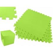 Covoras Tip Puzzle pentru Copii, 4 Piese din Spuma Moale, Culoare Verde, Dimensiuni 122x122cm