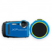 cámara digital fujifilm xp 120 azul más bocina braven 105