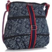 Home Heart Blue, White Sling Bag