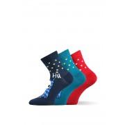 Xantipa - vidám női zokni, 3 pár 1 csomagban