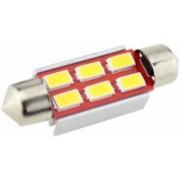 Sofita canbus rendszám világítás, 6 led, 39 mm, 200 Lumen, 5730 chip, 2W, hideg fehér