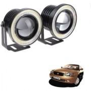 Auto Addict 3.5 High Power Led Projector Fog Light Cob with White Angel Eye Ring 15W Set of 2 For Maruti Suzuki Baleno