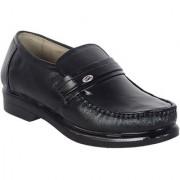 Shoebook Mens Black Leather Slip On Shoes