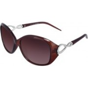 Ivonne Retro Square Sunglasses(Brown)