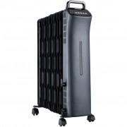 Calorifer electric Heinner HOH-SD11ECOBK, 2500 W, 11 elementi, termostat ajustabil, 3 setari de temperatura, control digital