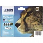 ORIGINAL Epson Multipack nero / ciano / magenta / giallo C13T07154012 T0715 4 cartucce: T0711 + T0712 + T0713 + T0714
