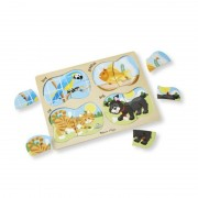 Puzzle lemn 4 in 1 Animale de companie Melissa and Doug