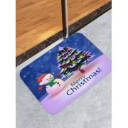 Rosegal Tapis de Sol Décoratif Bonhomme de Neige et Sapin de Noël Imprimés Largeur 16 x Longueur 24 pouces