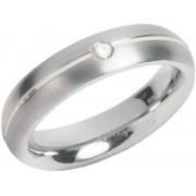 Boccia Titanium Titanový snubní prsten s diamantem 0130-05 54 mm