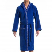 Modus Vivendi Meander Bath Towel Robe Loungewear Blue 11652