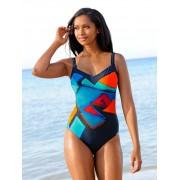 Sunflair Badeanzug im grafischen Dessin, blau