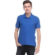 Calibro Mens RoyalBlue Polo Neck T-shirt