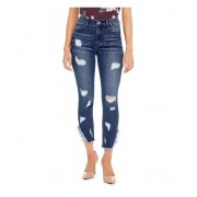 GUESS Lynn Destroyed Skinny Jeans dark destroy wash