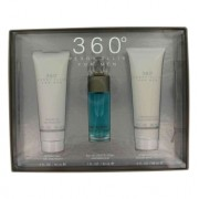 Perry Ellis 360 Eau De Toilette Spray + After Shave Balm + Shower Gel Gift Set Men's Fragrance 454276