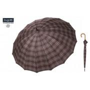 Dáždnik Bugatti® Doorman - pánsky hnedé karo