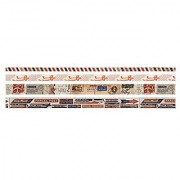 Design Tape by Tim Holtz Idea-ology Correspondence Adhesive Backed 4 Rolls 10 Yards Each Multicolored TH93191