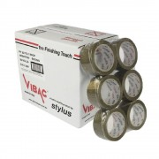 Set 36 Role Banda Adeziva VIBAC Solvent, 48mm x 60m - Benzi Maro pentru Ambalare