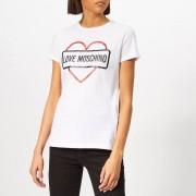 Love Moschino Women's Street Logo T-Shirt - Optical White - IT 42/UK 10 - White