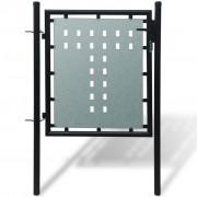 vidaXL Black Single Door Fence Gate 100 x 150 cm