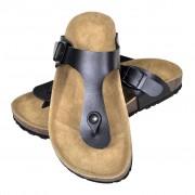 vidaXL Sandália de cortiça, unisexo bio, design chinelo dedo, em preto, 36